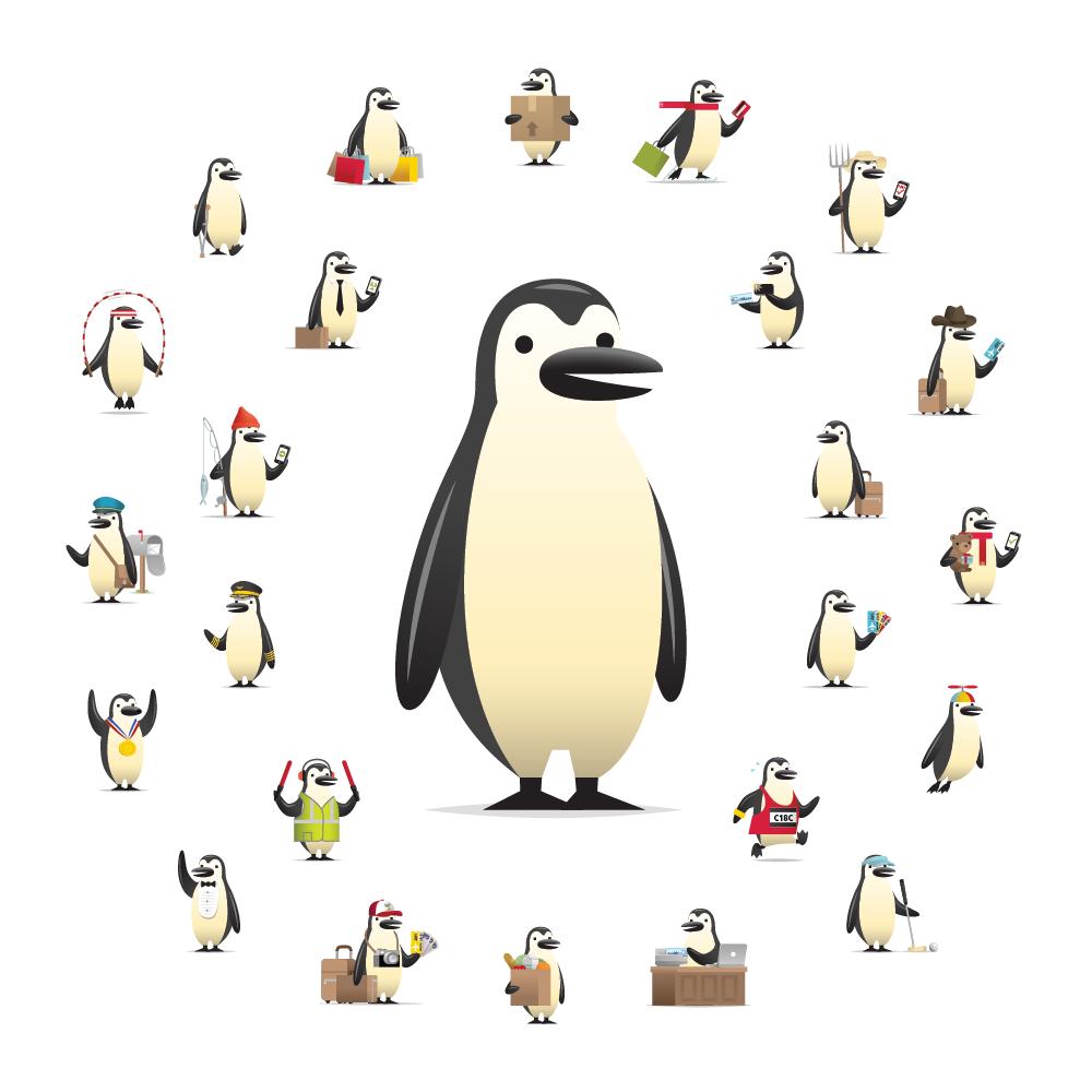 CIBC Percy Penguin Character